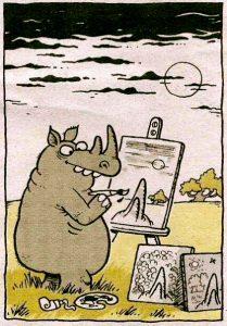 karikatur-gergedan